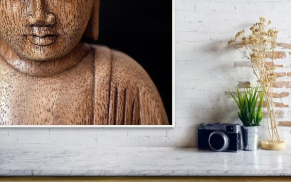 Buddha - Minimalistický fotoobraz na stěnu