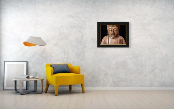 The Buddha - canvas print on the wall.