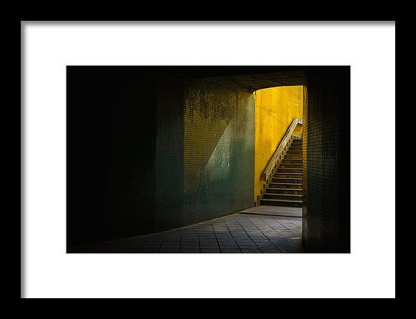 Dark Underpass - Small framed art print, 30cm x 20cm