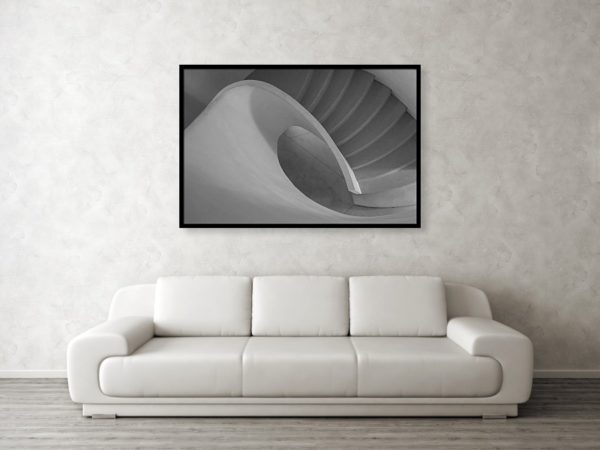 Curved Staircase 122cm x 81cm framed print
