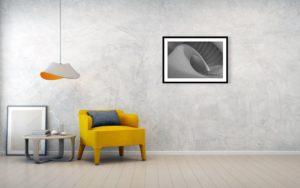 Točité schodiště - Minimalistický černobílý fotoobraz 76cm x 51cm