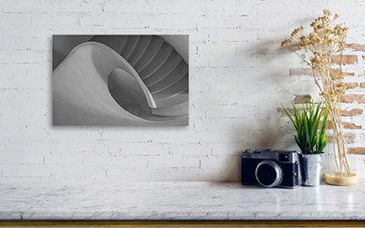 Točité schodiště - Minimalistický fotoobraz na stěnu