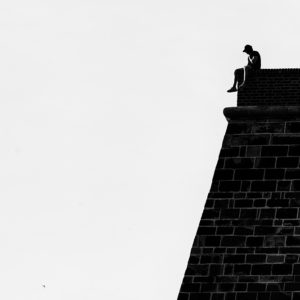 Man On The Wall - Fine art photography print