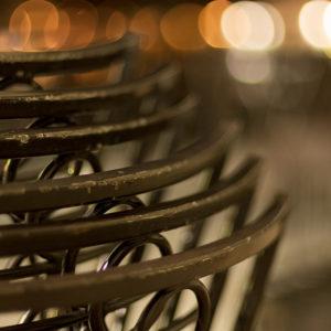Street Cafe Close-up In Prague - Fine art photography print