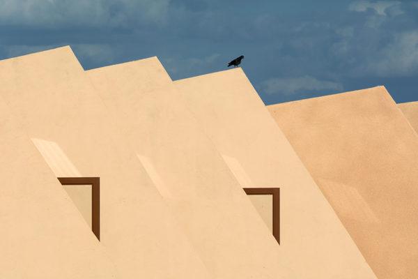 Hotel v poušti - Minimalistický fotoobraz - Architektura