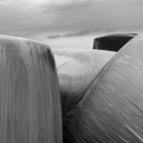 Balíky slámy - fotograf Thierry Salmon