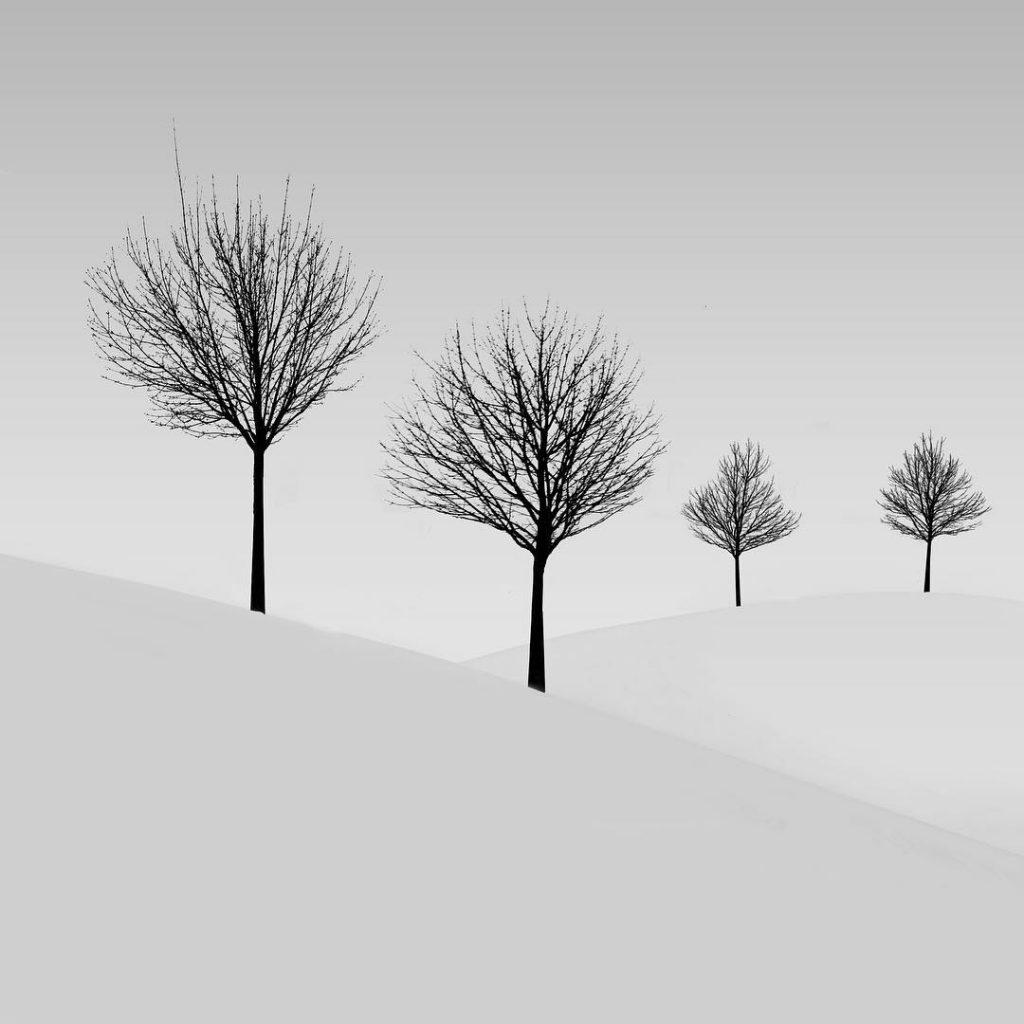 Minimalistická krajina - fotograf Andrej Šafhalter