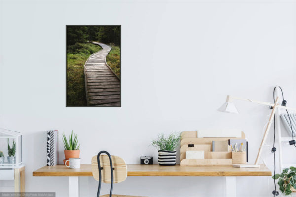 Wooden walkway - Photography Print Visualization