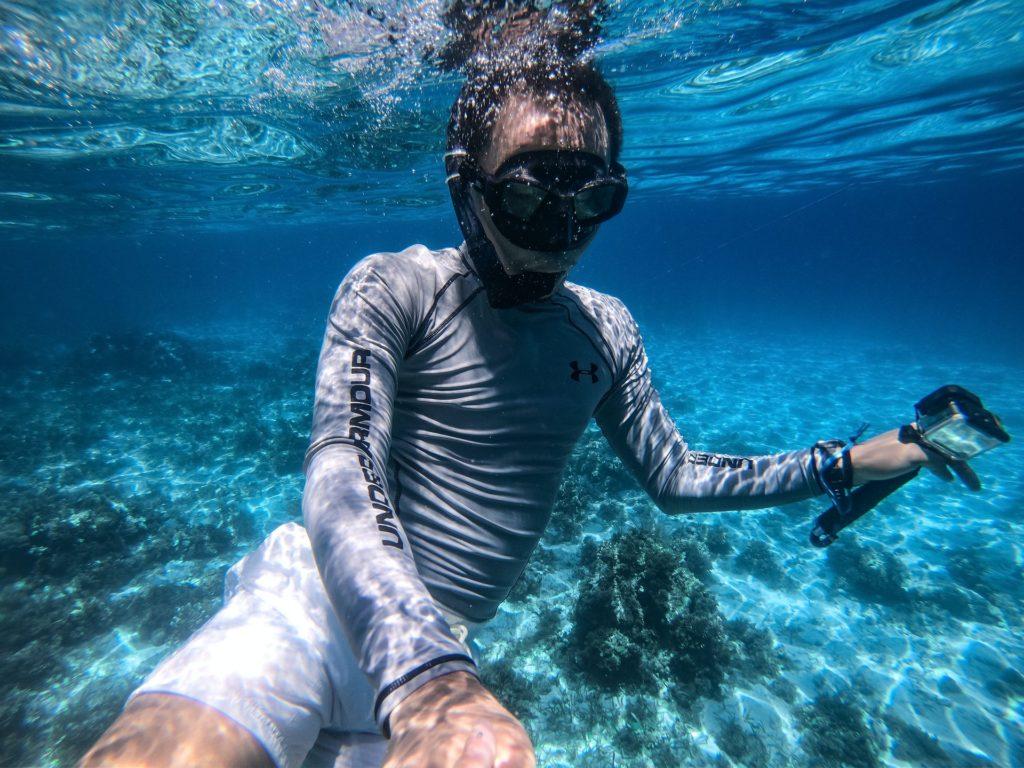 Focení v moři s akční kamerou
