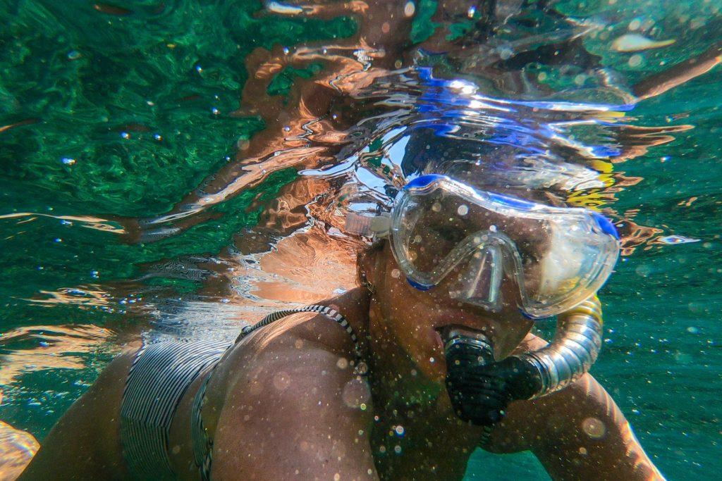 Focení pod vodou u moře