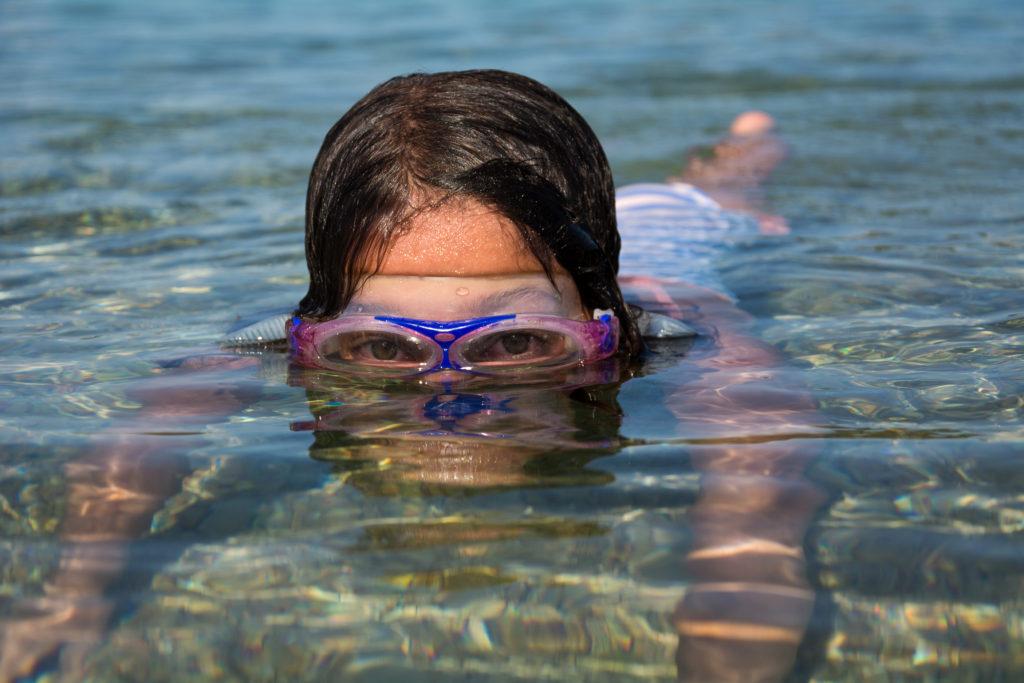 Fotografie mé dcery v moři