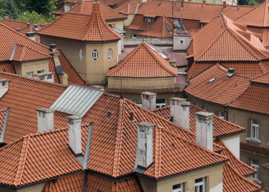 Střechy Podolské porodnice