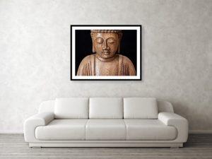 Buddha - Minimalistický zarámovaný fotoobraz - vizualizace