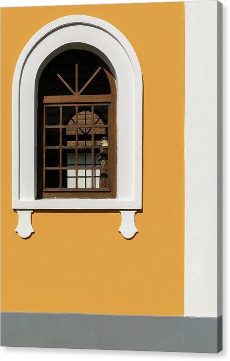 """Minimalistický fotoobraz """"Kostel"""" na plátně"""