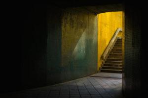 Temný podchod v Praze - Minimalistický fotoobraz