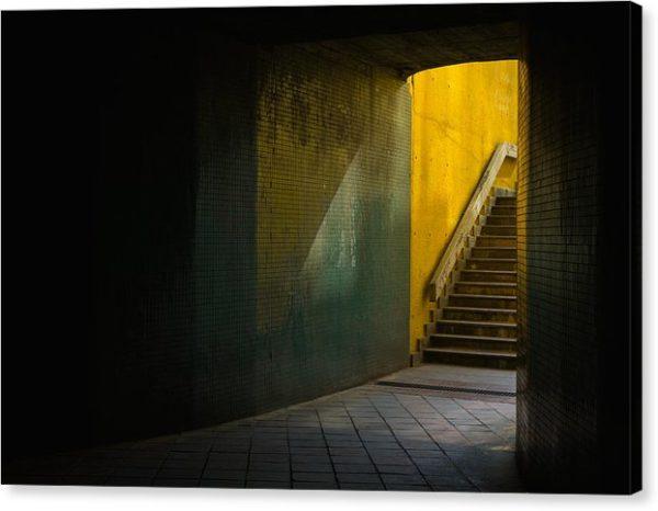 Podchod v Praze - Minimalistický fotoobraz na plátně