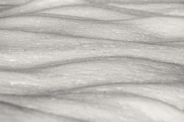 Zimní mikro krajina - Černobílý minimalistický fotoobraz