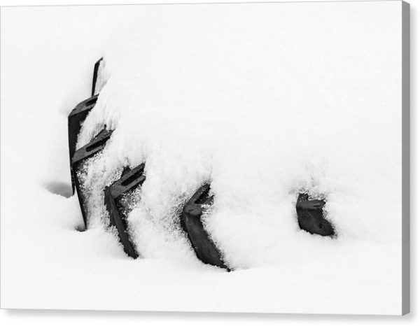 """Černobílý minimalistický fotoobraz """"Pneumatika"""" na plátně"""