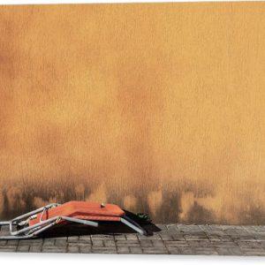 """Minimalistický fotoobraz """"Lehátko"""" na plátně"""