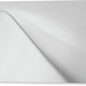 "Černobílý minimalistický fotoobraz ""Sněžná vlna"" na plátně"