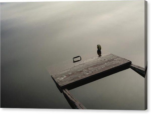 "Minimalistický fotoobraz ""Utopená pramice"" na plátně"