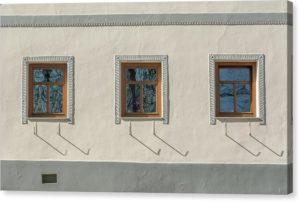 """Architektonický fotoobraz """"Tři okna"""" na plátně"""