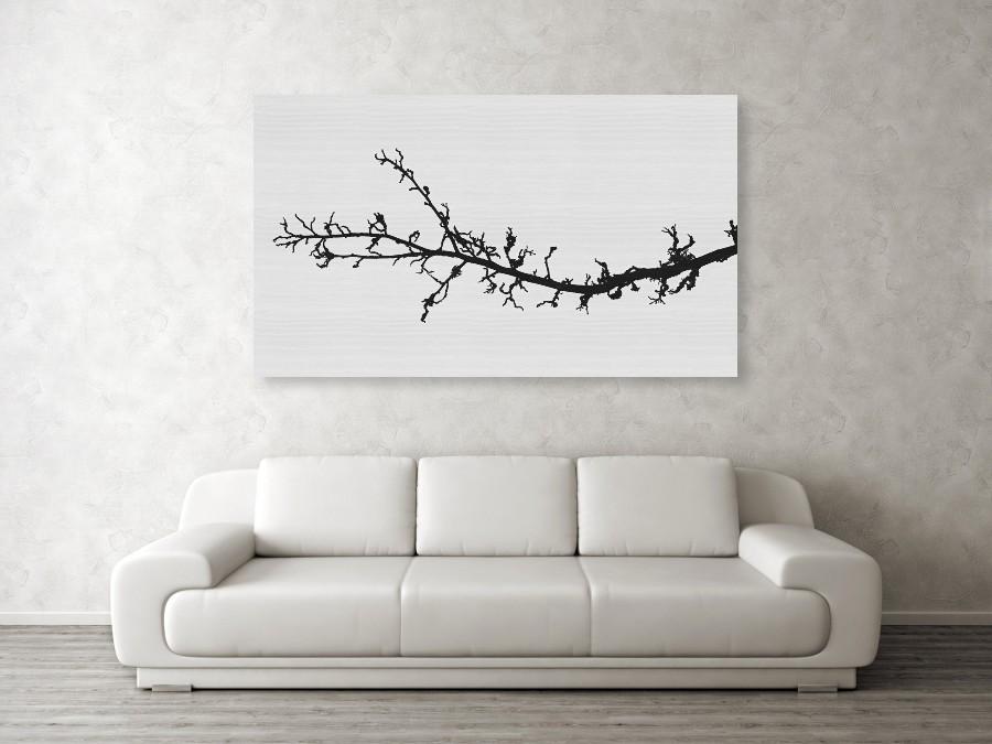 Fotografie je vytištěna na javorové desce o velikosti 152 x 89 cm.